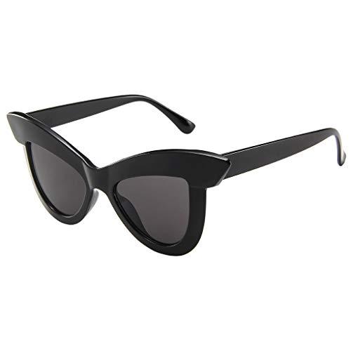 EUCoo Frauen Sonnenbrillen PersöNlichkeit Lustige GroßE Augenbrauen Katzenaugen Sonnenbrille Helle FarbenstraßEnsch LaggläSer(D)