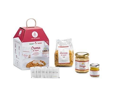 CREMA DI MAIS CON TALEGGIO E TARTUFO My Cooking Box x4 Porzioni - Idea Regalo cesto Natale