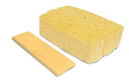 Spontex Quellschwamm Maxi, Universal Schwamm, aus Zellulose, saugstark, grobporig, 10 Stück, 153 - Sauber Machen Pizzaofen