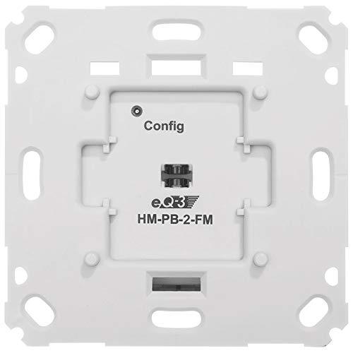 ELV Homematic Komplettbausatz Funk-Wandsender 2-fach für Markenschalter, Batteriebetrieb, Unterputzmontage