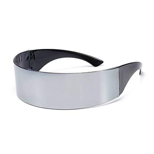 TYJYTM Lustige futuristische Wrap Around Monob Kostüm Sonnenbrille Maske Neuheit Brille Halloween Party Party Supplies Dekoration