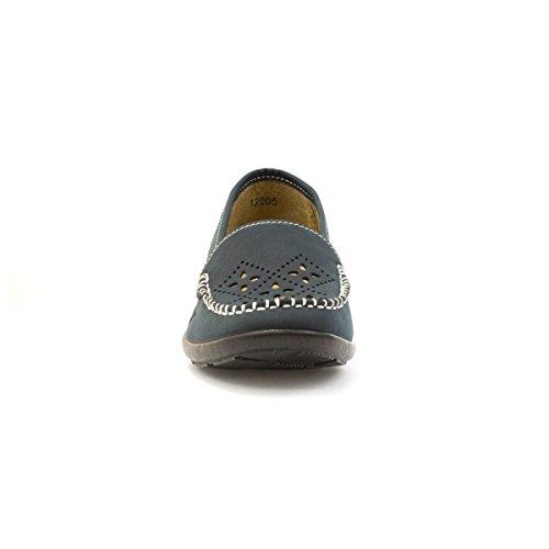 Softlites Damen Marineblau Hacken Out Casual Schuh Blau