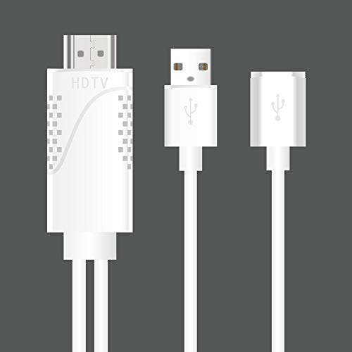 Lovearn 11 poliges Micro USB-zu-HDMI Adapterkabel 1080P HDTV für Android Samsung iPhones (White) (Samsung Galaxy Tab 7 Hdmi-adapter)