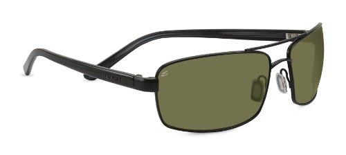 Serengeti Eyewear Sonnenbrille San Remo, Satin Black/Grey Stripe, M/L, 7604