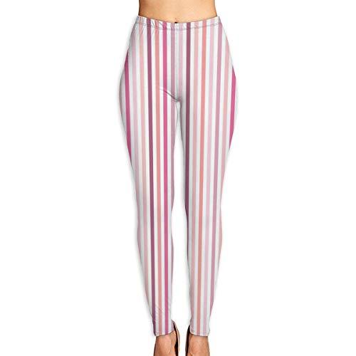 Deglogse Yogahosen, Trainingsgamaschen,Pink Stripes Yoga Pants for Women Sport Tights Workout Running Leggings