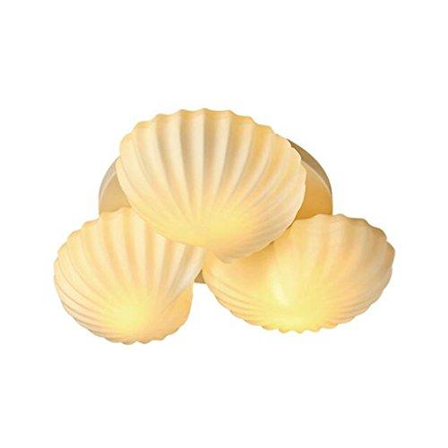 Prinzessin Drei-licht Kronleuchter (GAODUZI Moderne minimalistische Mittelmeer Seashells Kinder Küche Schlafzimmer Kronleuchter Deckenleuchte Prinzessin und Prinzessin Persönlichkeit LED 3W * 3 ( Farbe : Warmes Licht ))