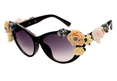 Hemio Sonnenbrille Damen Sonnenbrillen Farbfilm Outdoor-Brille Vintage Ideal Radbrille Sunglasses Moda Eyewear Katzenauge Polarisiert
