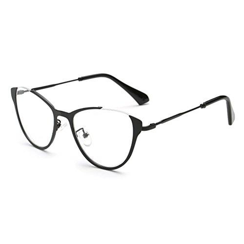 Hibote Männer Frauen Cat Eye Brille - Klare Linse Brillengestell - Mode Brillen Eyewear 122908