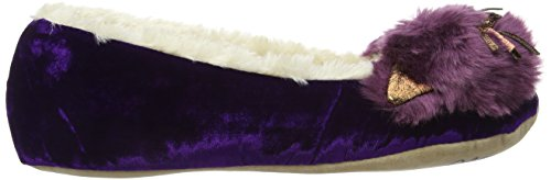 Ruby and Ed Whiskers Ballerina, Chaussons à doublure chaude femme Purple (Mulberry)