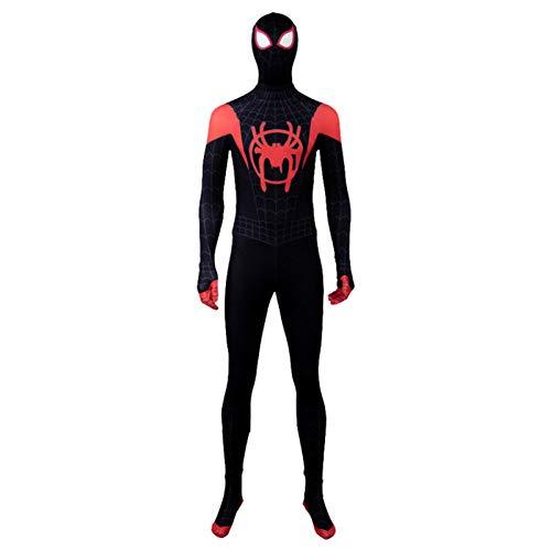 Schwarz Spiderman Kostüm Halloween Cosplay Overall 3D Drucken Fancy Dress Party Requisiten Bodysuit Männer Frauen Kostüm,Men-XXL (Mann Spiderman Kostüm)
