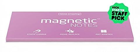 magnetische Notitzzettel–statisch haftende Notizzettel, Finanziert durch Kickstarter-Kampagne, 200x 100mm, 100Blatt, Papier, das an Allem haftet, Ohne Stecknadel, Klebstoff oder sonstige Befestigungshilfen, Doppelseitig und vollständig recycelbar, Sie werden nie wieder Klebezettel Verwenden müssen rose