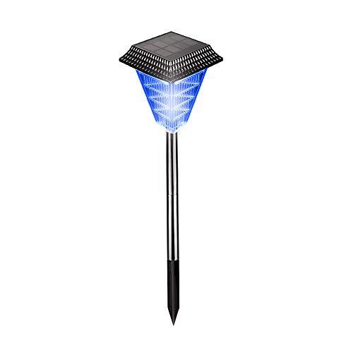 Luci da giardino solari, 12LED Bright Light -Acqua impermeabile -Auto On/Off- Perfetto per giardino esterno, prato, cortile, recinto-blu