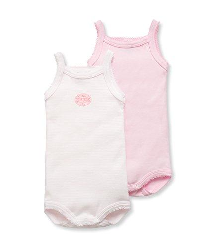 Petit Bateau Baby - Mädchen Body 2P BRET, 2er Pack, Gr. 80 (Herstellergröße: 12m/74cm), Rosa (SPECIAL LOT 00)