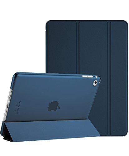 ProCase iPad Air 2 Ultra Dünn Smart Hülle, Leichte Stand Schutzhülle Shell mit Translucent Frosted Rückhülle für Apple iPad Air 2 (A1566 A1567) -Navy -