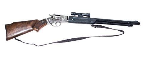 Halloweenia - Spielzeug Gewehr Metall- 8 Schuss - Cowboykostüm Bandit Räuber Mafia Kostüm, 70cm, Mehrfarbig -