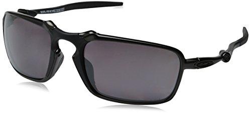 Oakley Herren Sonnenbrille Badman 602006, Schwarz (Dark Carbon), 60 (Dna-sonnenbrille)