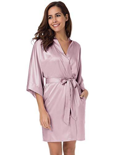 SIORO Womens Dressing Gown-Silk ...