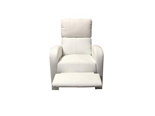 Poltrona relax vibrante reclinabile similpelle riscaldabile tv 10 punti vibranti (bianco)