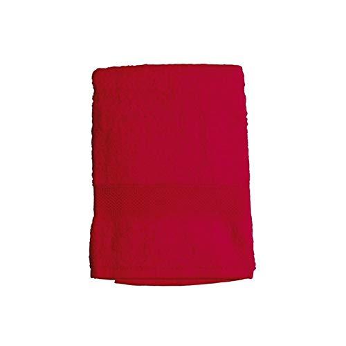 Soleil d'ocre 441101 Douceur Drap de Bain Coton Rouge 70 x 130 cm