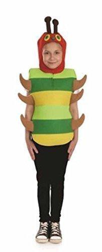 Die Nimmersatt Raupe Kostüm (Caterpillar Tunic - Kids Costume 8 - 10)