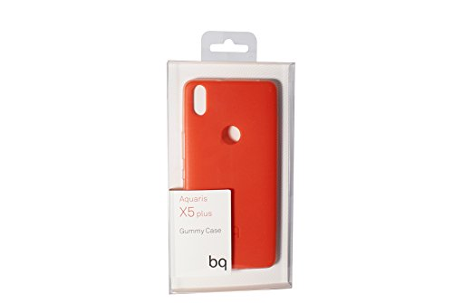 BQ BXBQ694 - Funda para Aquaris X5 Plus, color rojo