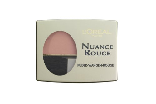 L'Oréal Paris Nuance Rouge, 101 Rosenholz/Wangenrouge für natürlich-mattes Make-Up-Finish, für jeden Hauttyp/1 x 6g - Make-up Perfect Rouge