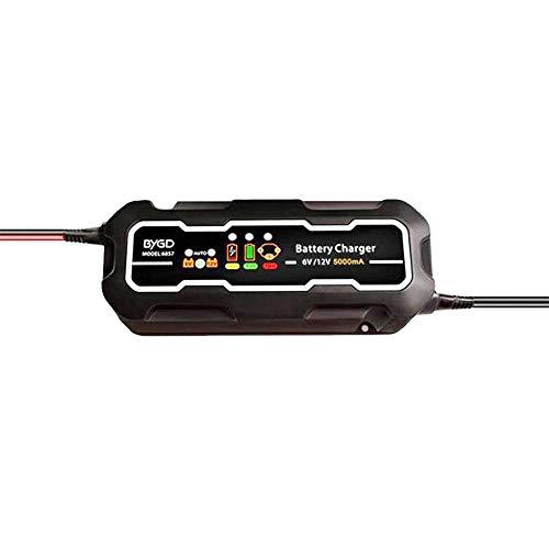 HCCX 12V / 6V 5000Ma Autobatterie-Ladegerät Für Autos, Motorräder, Atvs, Wohnmobile, Powersports, Acid-Akku Schnelles Ladegerät