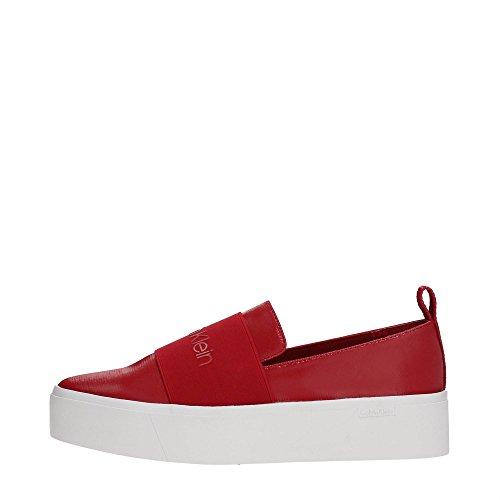 CALVIN KLEIN E6674 Slip On Femme Crimson Red