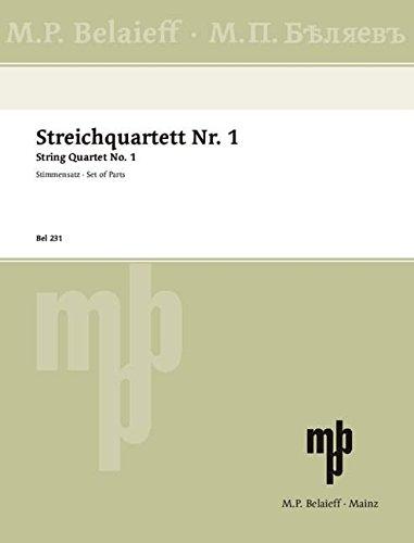 Streichquartett Nr. 1: Streichquartett. Stimmensatz. (Routledge Performance Practitioners)