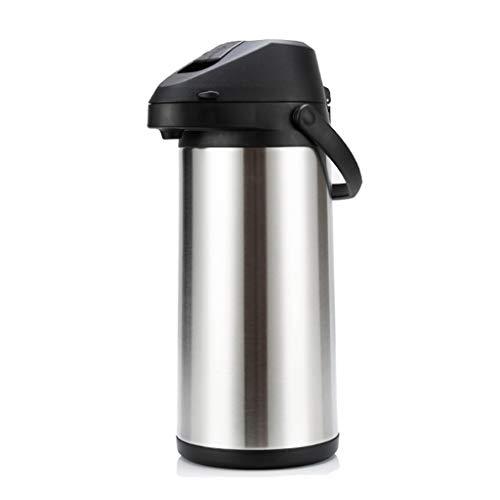 LLCOFFGA Kaffeekanne, 24 Stunden WäRmeSpeicherung, GroßE KapazitäT, HebelWirkung, Edelstahl,5L