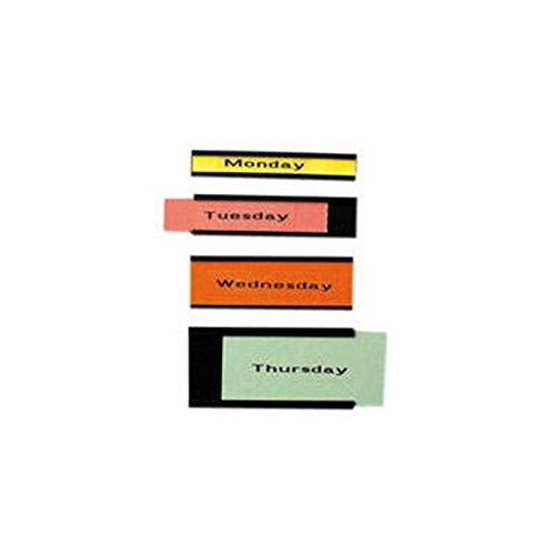 Etikettenträger für Planungstafel, PG=72ST, 10x60mm, schwarz
