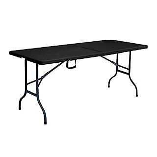Rekkem Table Pliante Noire 180 x 75 x 74 cm