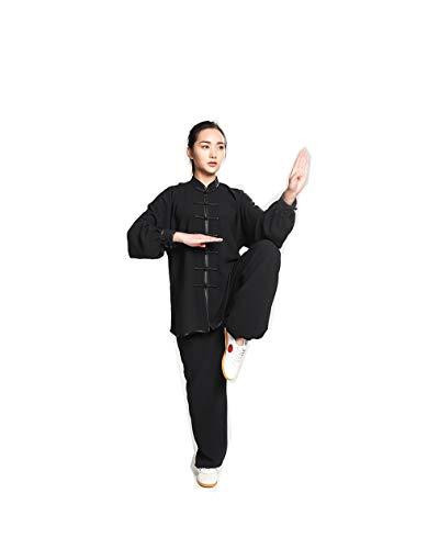 JTIH® Tai Chi??? Kleidung Tang-Anzug Kung Fu-Shirt Chinesische traditionelle Kampfkunst Wing Chun Anstrengung Trainingsanzug Elastische Baumwolle Weiches (einschließlich Hemd + Hose) -
