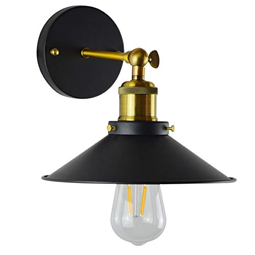 Bostar Lámpara de Pared Vintage Loft Industrial Lámpara Metal E27 Luz de Pared Retro Lámpara Base...