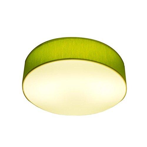 Lampenlux LED Deckenlampe Deckenleuchte Greeny extra hell grün 24W 4500K Ø: 30 cm Tagweiß Stoff...