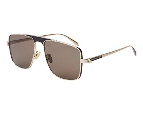 Alexander McQueen Sonnenbrillen (AM-0200-S 002) gold - schwarz - grau-braun