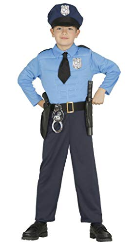 KINDERKOSTÜM - Polizist - Größe 95-100 cm ( 3-4 Jahre ), US Polizei Uniformen Beamter Bulle Cop Policia Berufe