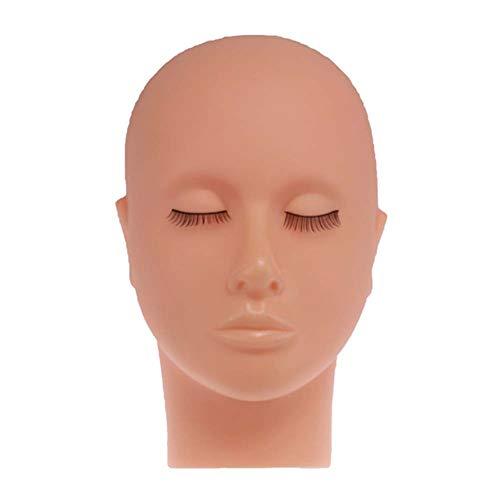 LanLan Greffage de Cils Modèle de tête Silicone à tête Plate Modèle de Pratique des Extensions de Faux Cils