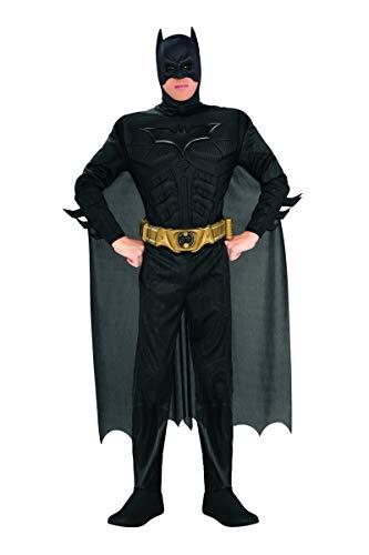 Rubie's Batman-Kostüm für Herren mit Muskeln schwarz L