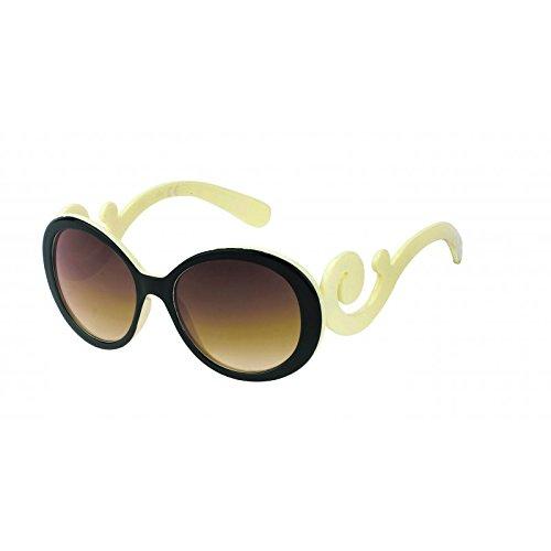 Gafas de sol de las mujeres de unos 400UV glamour marrón negro blanco