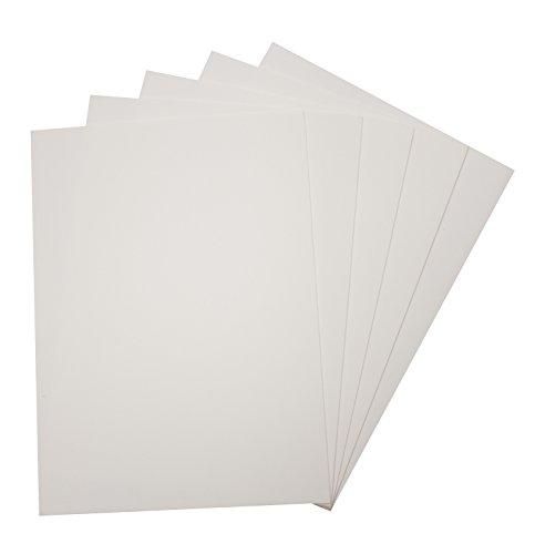 folia 23500 – Moosgummi 29 x 40 cm, 5 Bogen, weiß