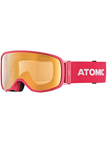 Atomic, All Mountain-Skibrille, Unisex, Für schwaches Licht, Small Fit, Live Fit-Rahmen, FDL-Doppelscheibe, Revent S FDL Stereo, Pink/Pink-Gelb Stereo, AN5105412 Pink Stereo