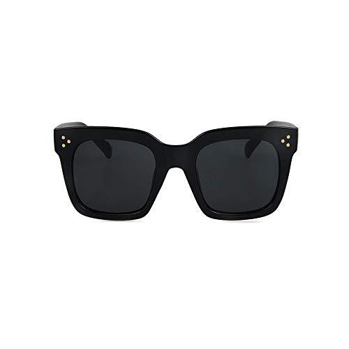 NiQiShangMao 2019 Kim Kardashian Sonnenbrille Lady Flat Top Eyewear Damen Luxury Brand Sonnenbrille Damen Rivet Sun Glasse UV400