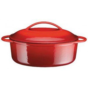 FONTE COCOTTE B OVALE ROUGE 34 CM 7.5 code 0754
