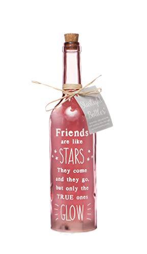 BOXER - Bottiglia di Vetro con Luce LED, Bella, Decorativa, Perfetta per Il Tuo Amico, Completa di Splendida Etichetta Regalo,...