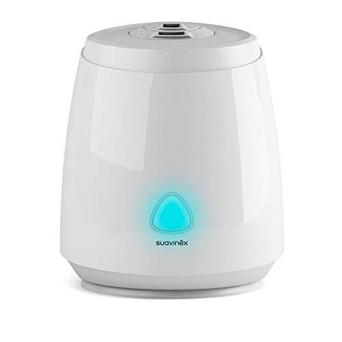 Suavinex, Humidificador Smart para Bebés Silencioso, de Vapor Frío, Ultrasónico, Aromaterapia, Luz...