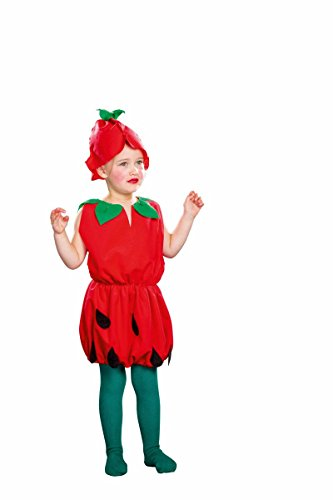 Erdbeere Kostüm Kleid - Festartikel Müller Kinder Kostüm kleine Erdbeere