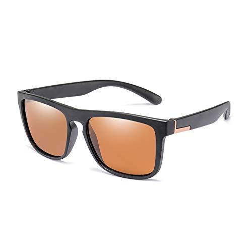 WZYMNTYJ Polarisierte Sonnenbrille Männer Sonnenbrillen Brillen Zubehör Brillen Schwarzer Rahmen Angeln UV400 Schutz Classic
