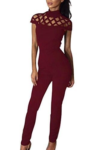 Miss Floral Damen Jumpsuit schwarz schwarz 34 Rot