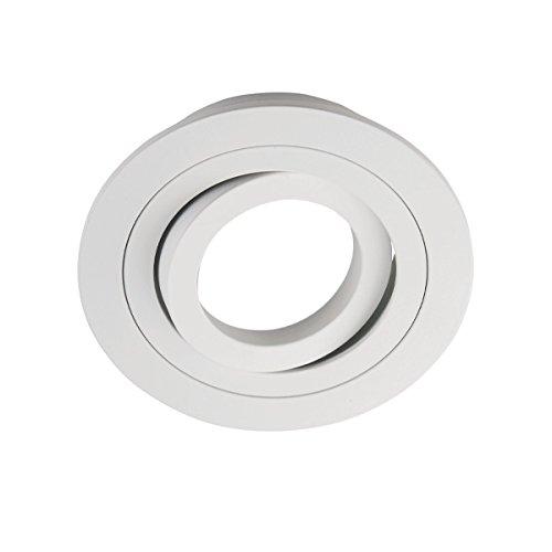 Wonderlamp Classic - Foco empotrable redondo, blanco, 1 unidad